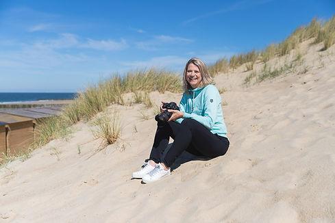 Angelique op het strand
