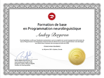 Certificat de base PNL