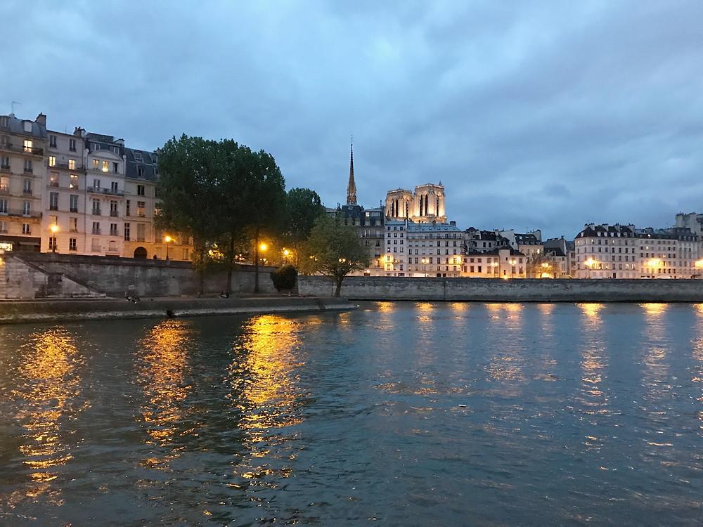 Biking along the Seine River