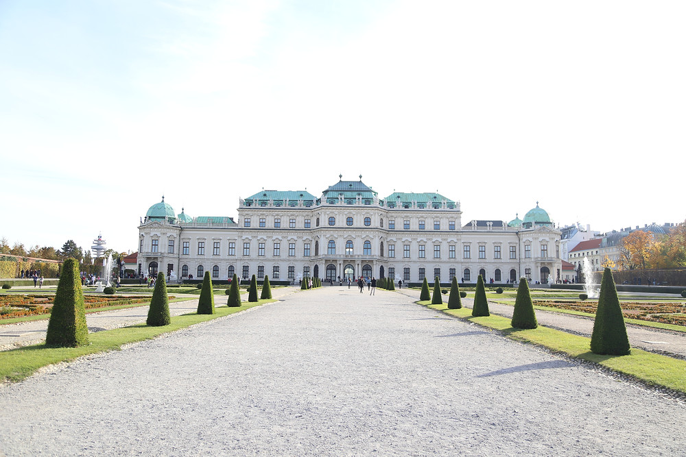 symmetrical belvedere palace
