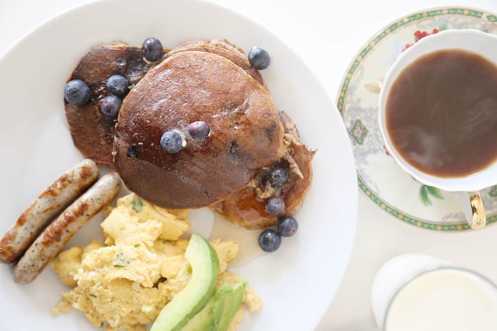 Blueberry Almond Flour Pancakes