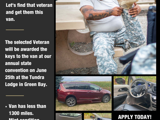 Disabled Veterans Encouraged to Apply for Brand New Van Giveaway