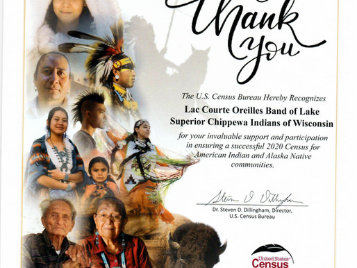 Census Thanks Tribe for Their Support in 2020 Count