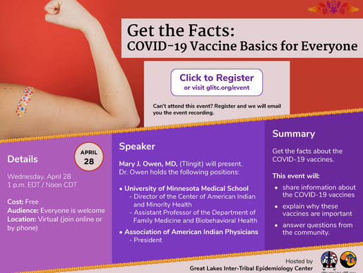 Covid Vaccine Information Event to Happen on April 28