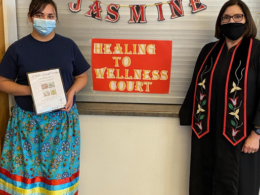 Healing to Wellness Court Celebrates First Graduate