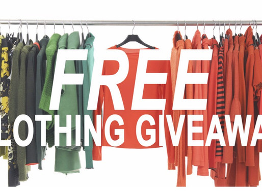 Free Clothing and Other Items to Be Given Away During Labor Day Weekend