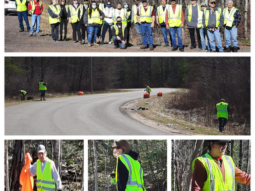 LCO Housing Authority Employees Do Their Part with Roadside Clean Up