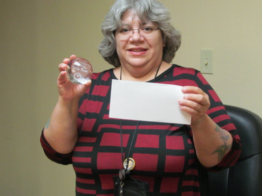 Betty Dust Recognized for 15 Years at the Clinic