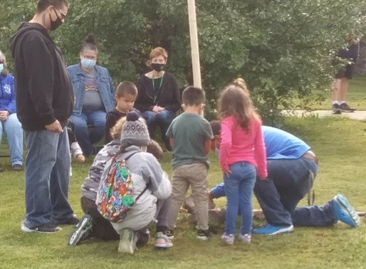 Feather Pole Ceremony Held for LCO Ojibwe School Returning to In-Person Learning on Monday