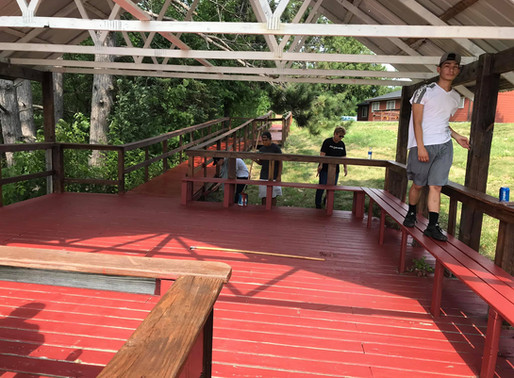 Young Men's Program Cleans and Repaints Reserve Gazebo