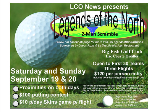 Legends of the North Golf Tournament Coming Soon to Big Fish