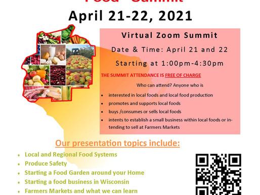 Local Food Summit Being Held Beginning April 21