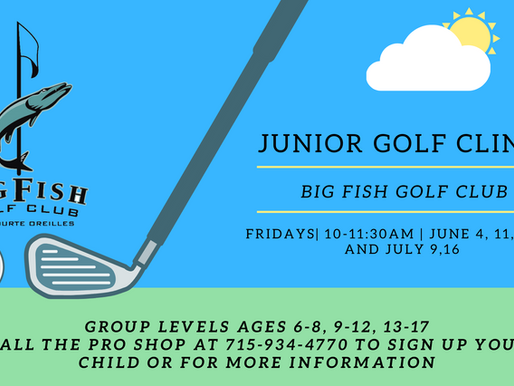 Big Fish to Host Free Golf Clinic for Area Youth