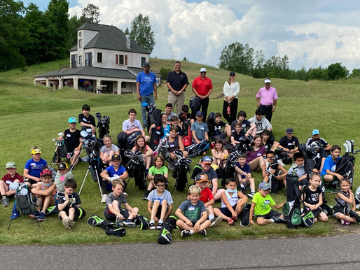 New Set of Clubs Part of Successful Junior Golf Clinic at Big Fish