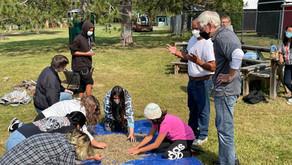Governor Visits LCO Ojibwe School Outdoor Skills Class