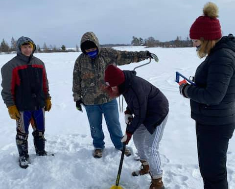 LCO Ojibwe Students Attend Traditional Fishing Winter Camp