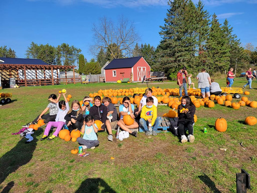 Boys and Girls Club Youth Visit Pumpkin Patch