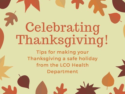 LCO Health Issues Recommendations for Celebrating Thanksgiving