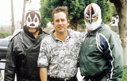 w/ Mil Mascaras and Mascara Sagrada