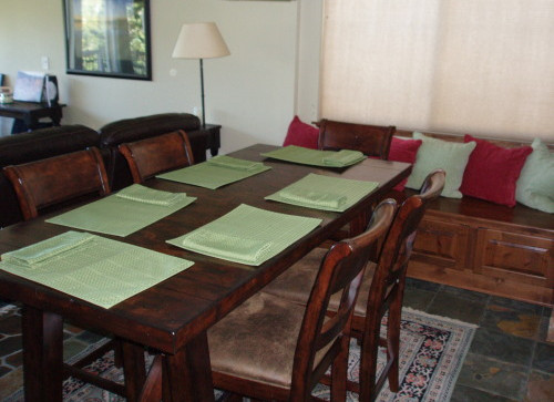 Dining Area With Custom Bench Seating