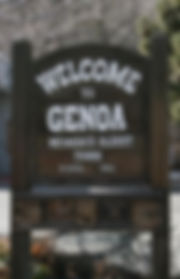 WELCOME TO TOWN OF GENOA SIGN
