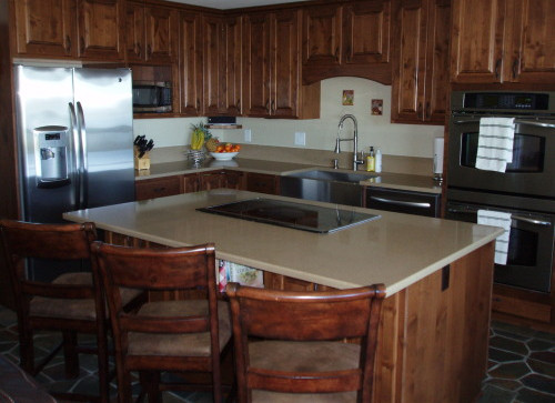 Remodeled Kitchen With Induction Cooktop, Down Draft, Granite Counters, Custom Knotty Alder Cabinets