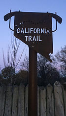 CALIFORNIA TRAIL SIGN TOWN OF GENOA HISTORY EVENT