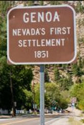 TOWN OF GENOA NEVADA'S FIRST SETTLEMENT SIGN