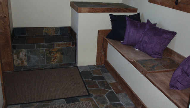 Entry with Custom Benches And Large Storage Area Above