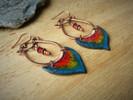 boucles oreilles orientales cuivre céram