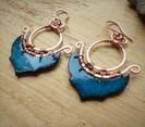 boucles oreilles bleu canard orientale c