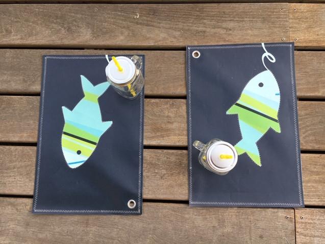 Sets de table Fish turquoise