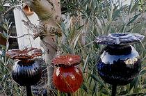 pavots noir orangés, bleu-noir, rouge 3.