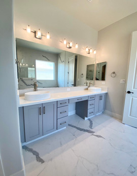 Master Bath with sit down vanity