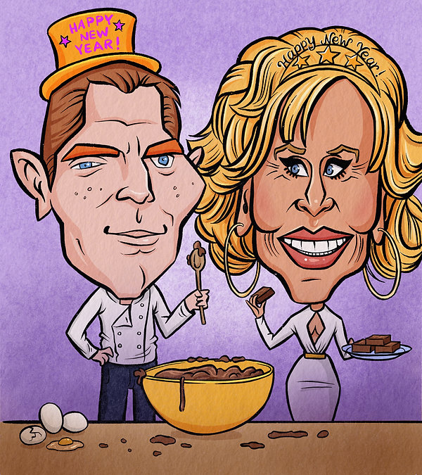Bobby Flay and Jane Fonda