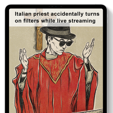 PRIEST STREAMS MASS DURING CORONAVIRUS LOCKDOWN — WITH FACEBOOK FILTERS ON | NEW YORK POST