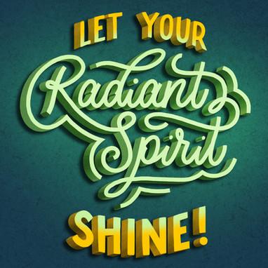 Lettering | Radiant Spirit