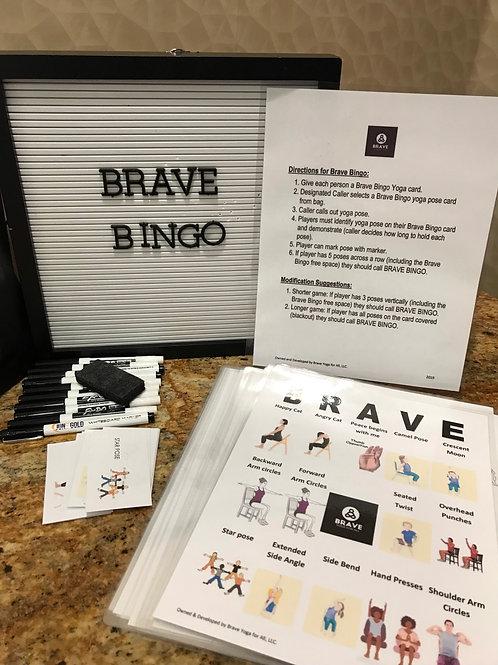 Brave Yoga For All Bingo (Chair Version)