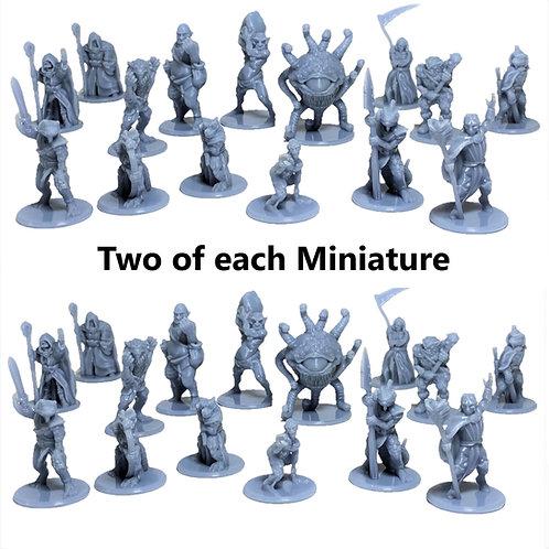 Villians Fantasy Figurines Set of 30