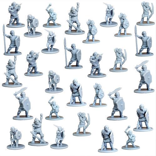 Goblins Miniature Fantasy Figurines Set of 30