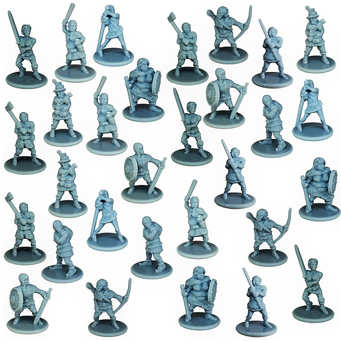 Bandits Miniature Fantasy Figurines Set of 30