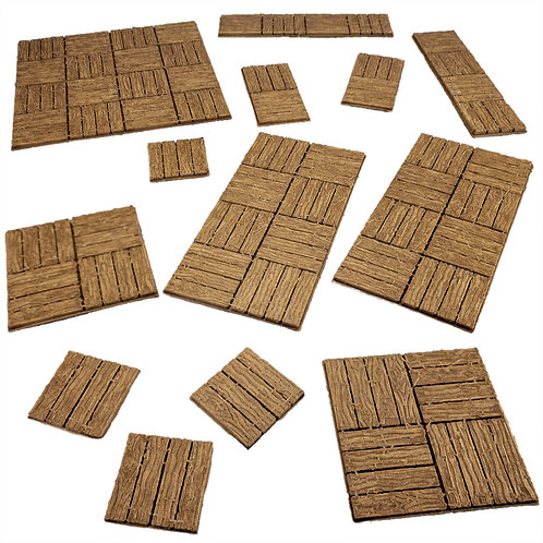 Flat Wooden Dungeon Tiles