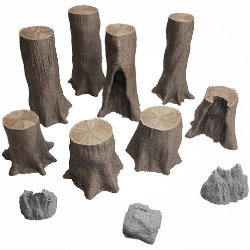 Giant Chestnut Trees Set 2