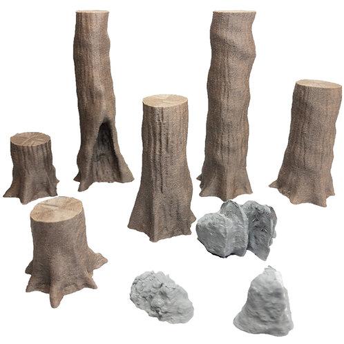 Giant Chestnut Trees Set 3