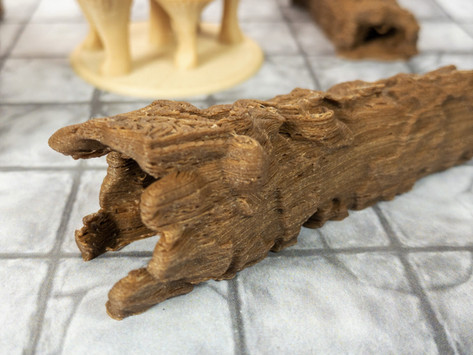 Tree Set - Hollow Logs with Fungus