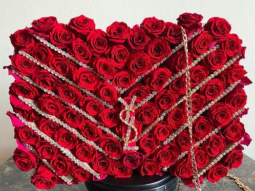 Forever Roses Valentine's Day YSL Bag