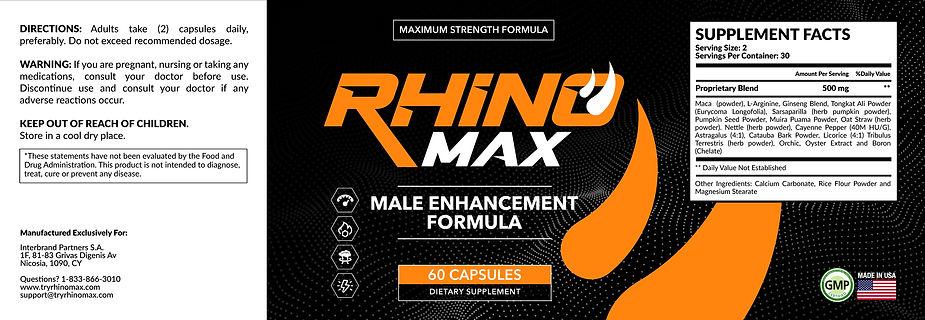 RHINO MAX Label