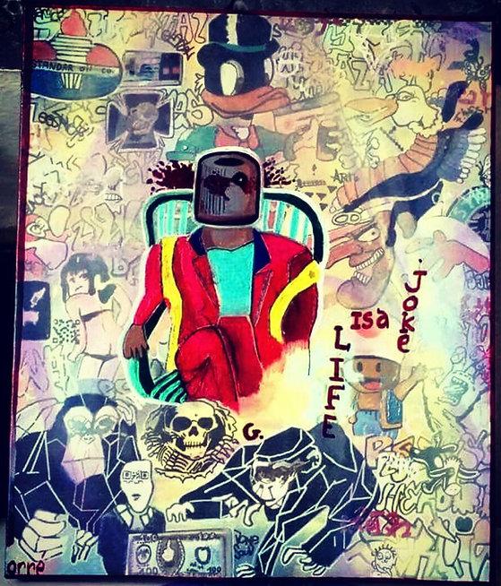 Série, Inspiration Libre, Peinture, Life Is A Joke