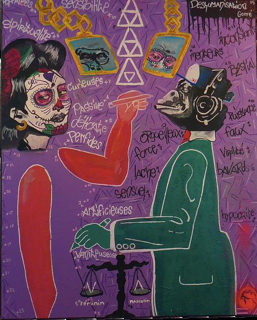 Série , Deshumanisation , Peinture , Theorie du genre