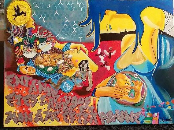 Série, Inspiraton Libre, Peinture, Enfant vous êtes l'aube et mon âmeest la plaine